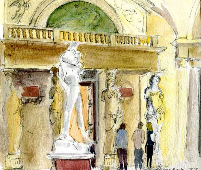 Le Louvre, salle des Cariatides
