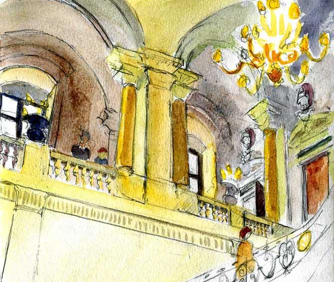 Le Louvre L'escalier du Ministre