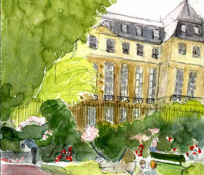 jardin de l'Hôtel Salé_